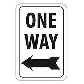 "Aluminum Sign -  One Way Left Arrow - .063"" Thick, TM22H"