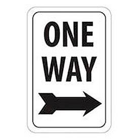 """Reflective Aluminum Sign - One Way Right Arrow - .080"""" Thick, TM23J"""