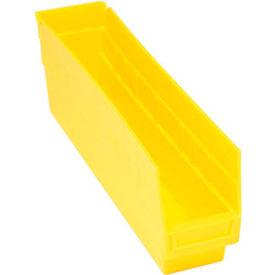 """Quantum Plastic Shelf Bin - QSB203 4-1/8""""W x 17-7/8""""D x 6""""H Yellow - Pkg Qty 20"""