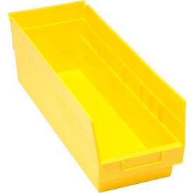 """Quantum Plastic Shelf Bin - QSB204 6-5/8""""W x 17-7/8""""D x 6""""H Yellow - Pkg Qty 20"""