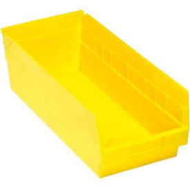"""Quantum Plastic Shelf Bin - QSB208 8-3/8""""W x 17-7/8""""D x 6""""H Yellow - Pkg Qty 10"""