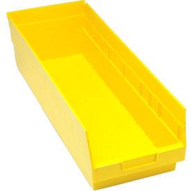 """Quantum Plastic Shelf Bin - QSB214 8-3/8""""W x 23-5/8""""D x 6""""H Yellow - Pkg Qty 6"""