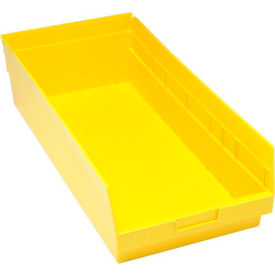 """Quantum Plastic Shelf Bin - QSB216 11-1/8""""W x 23-5/8""""D x 6""""H Yellow - Pkg Qty 6"""