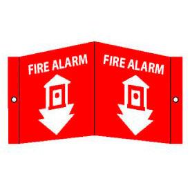 Fire Alarm Sign - Acrylic 5-3/4 x 8-3/4