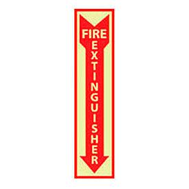 Fire Extinguisher Sign - Vertical - Vinyl Glow