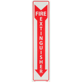 Fire Extinguisher Sign - Vertical - Plastic Glow