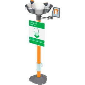 Guardian Equipment Emergency Eye Wash Pedestal Mounted - Stainless Steel Bowl, G1825
