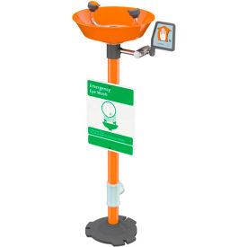 Guardian Equipment Emergency Eye Wash Pedestal Mounted - Plastic Bowl, G1825P