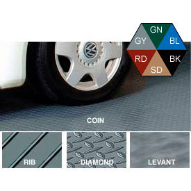Polyvinyl Floor Covering 10' X 24' Coin Pattern Sandstone