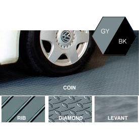 Polyvinyl Floor Covering 7-1/2' X 17' Diamond Pattern Gray