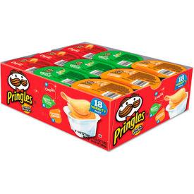 Pringles® Chips de pommes de terre, Pack variété, 0,74 Oz Canister, 18/box