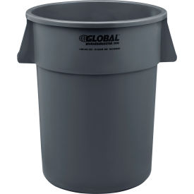 Global Industrial™ Plastic Trash Container, Garbage Can - 55 Gallon Gray