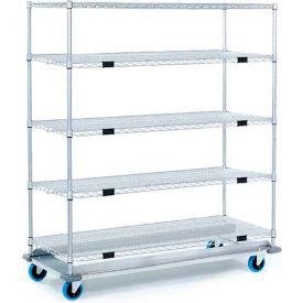 Nexel® Open Sided Wire Exchange Truck 5 Wire Shelves 1000 Lb. Cap.