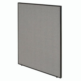 """Office Partition Panel, 60-1/4""""W x 72""""H, Gray"""