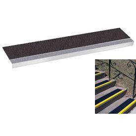 "Grit Surface Aluminum Stair Tread 11""D 30""W Glued Down Grayblack"