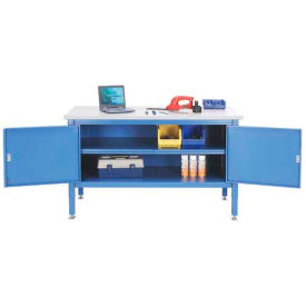 60 x 30 Security Cabinet Bench - Plastic Square Edge
