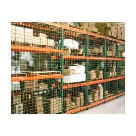 """Pallet Rack Netting Two Bay, 246""""W x 48""""H, 1-3/4"""" Sq. Mesh, 1250 lb Rating"""
