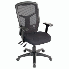 Mesh Task Chair - Fabric - High Back - Black