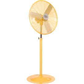 Deluxe Oscillating Pedestal Fan 30 Inch Diameter - Safety Yellow, 1/2HP, 10000CFM