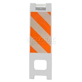 """Narrowcade Barricade Sign Stand 45""""H With 2 Panel 2 Sheetings"""