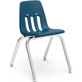 Virco® 9014 Classic Series™ Classroom Chair - Navy Vented Back - Pkg Qty 4
