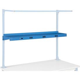 """72""""W Shelf With Pre-Wired Electric - Blue"""