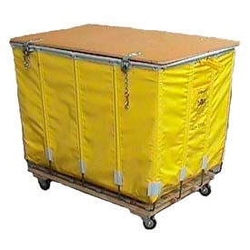 Dandux Yellow Glosstex Shipping Hamper Truck 4002002G16Y 16 Bushel Capacity- Pkg Qty 1