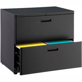"""30"""" Lateral File Cabinet 2 Drawer Charcoal"""