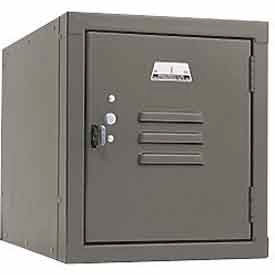 Penco 6179V028 Vanguard One High Box Locker 12x18x13-5/8 Unassembled Gray