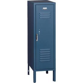 Penco 6187V806 Vanguard Half Height Locker 1 Wide 12x18x48-1/2 Unassembled Marine Blue