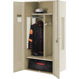 Penco 6KGDA00073 Patriot Gear Locker 24x24x72 Ready To Assemble Champagne
