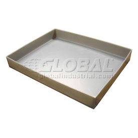 Rotationally Molded Plastic Tray 21-1/2x17x1-1/2 Gray- Pkg Qty 1