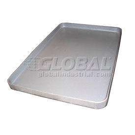 Rotationally Molded Plastic Tray 46-3/4x35-1/2x1-3/4 Gray