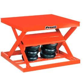 PrestoLifts™ Air Bag Pneumatic Scissor Lift Table AX20-4848 2000 Lb. Cap.