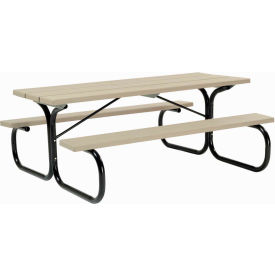 Picnic Table Tan Top With Black Frame
