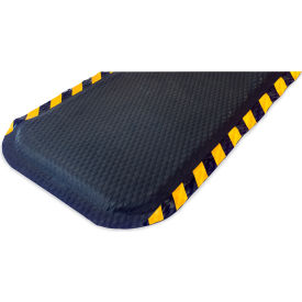 "Hog Heaven Anti Fatigue Mat 5/8 Thick 48"" W Yellow Chevron Stripe Border from 3 Ft up to 60 Ft"