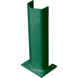 """3/8"""" Thick 18"""" H Steel Post Protector Green"""