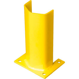 """1/2"""" Thick 12"""" H Steel Post Protector Yellow"""