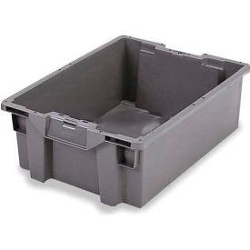 ORBIS Stack-N-Nest Pallet Container GS6040-36 - 23-5/8 x 15-3/4 x 14-1/4 Gray - Pkg Qty 5
