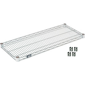 "Nexel S3072C Chrome Wire Shelf 72""W x 30""D with Clips"