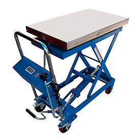 Mobile Scissor Lift Table with Integral Scale CART-500-SCL 500 Lb. Cap.