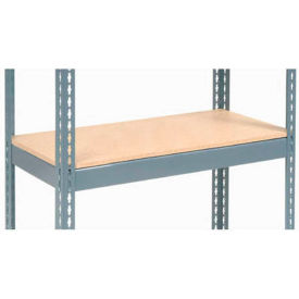 "Additional Shelf Level Boltless Wood Deck 36""W x 12""D - Gray"