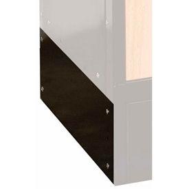 Hallowell KCSB18ME Wood/Metal Hybrid Locker Closed Side Base 18x6 Black