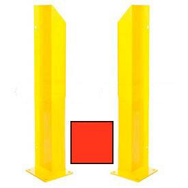 "Heavy Duty Door Track Protector 24"" Pair ( Left & Right) Orange"