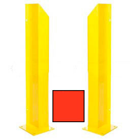 "Heavy Duty Door Track Protector 36"" Pair ( Left & Right) Orange"