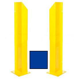 "Heavy Duty Door Track Protector 36"" Pair ( Left & Right) Blue"