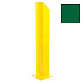 """Heavy Duty Door Track Protector 24"""" Left Green"""