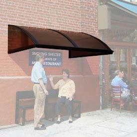 Smoking and Sidewalk Shelter Barrel Roof 12' x 5'