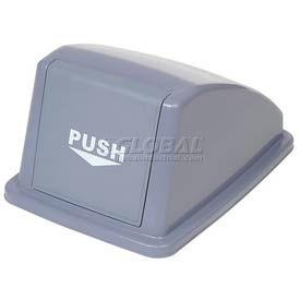 "Global Industrial™ recyclage poubelle couvercle - gris 13"" W x 18 H «D x 9"""