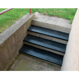 "Outdoor Recycled Rubber Stair Tread 42""W Black"